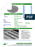 Disc Diffusers for Wastewater aeration