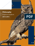 Philosophy Prog Hbk 14-15