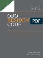 OBO Residential Code 2012