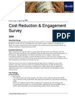 Hewitt Survey Highlights Cost Reduction and Engagement 042009