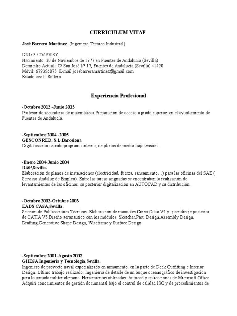 Dorable Ejemplos De Currículum Militar A Civil Gratuitos Ilustración ...