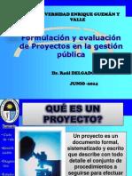 Formulacion de Proyectos en Gestion Publica