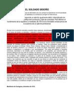 007 Manifiesto Cartagena Debilidad Ejercito