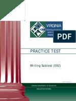 VCLA Writing PracticeTest 0612