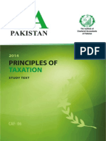 Principles of Taxation Caf 06 Icap Study Pack