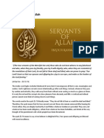 True Servants of Allah