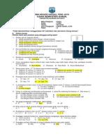 Pembahasan Soal Kimia Kelas x Semester 1 2014 Paket A
