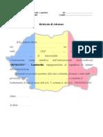 Richiesta Adesione Aso Romania