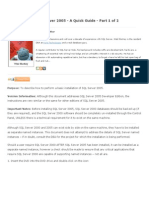 How to Install SQL Server 2005.docx