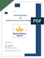 Internship report on British American Tobacco Bangladesh