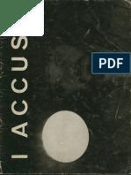 Toche - I Accuse - Livro de Exposição Em Bruxelas Em 1968