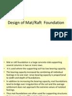Design of Mat Sd