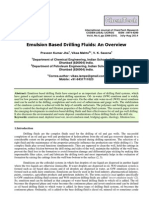 Emulsion Based Drilling Fluids an Overview