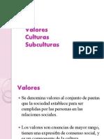 Psicologia Social - Valores, Culturas, Subculturas