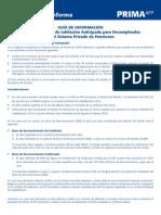JUBILACION ANTICIPADA DESEMPLEO