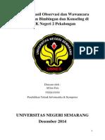 Laporan Hasil Observasi Dan Wawancara Pelaksanaan Bimbingan Dan Konseling Di SMK Negeri 2 Pekalongan