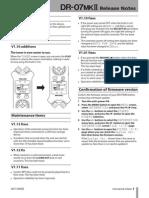 Tascam DR-07 MKII Firmware Version 1.13 update guide (E_DR-07mk2_RN_vE.pdf)