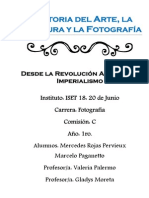 Historia Del Arte, La Cultura y La Fotografía
