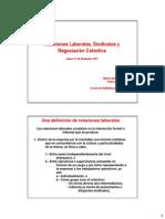 6. Clase Relaciones Laborales (Sindicatos) Prof. Alberto Armstrong (Invitado)