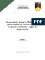 caracterización geológica mina rosario