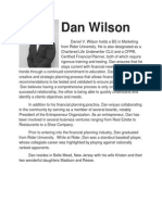 Biography of Dan Wilson