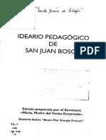 Ideario Pedagógico de San Juan Bosco