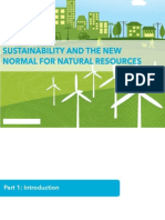Sustainability and the New Normal for Natural Resources