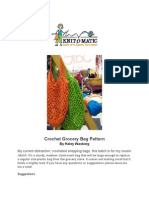 Knitomatic Crochet Grocery Bag