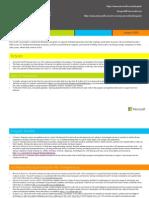 Microsoft BizSpark Fact Sheet August 2013