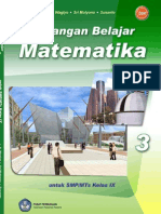 buku pegangan matematika smp kelas 9