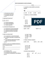 Examen de Conocimientos Cuarto de Primaria