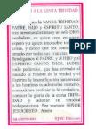 Oracion Santisima Trinidad