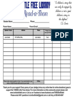 Read a Thon Pledge Form PDF