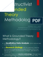 Constructivist Grounded Theory Methodology