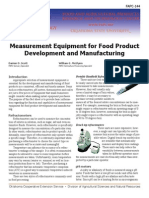 Measurement Equipment for Food Product Development and Manufacturing