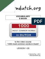 e Book Lesson 1-20-1000DutchWords
