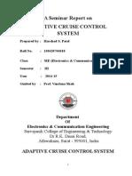 ADAPTIVE CRUISE CONTROL SYSTEM