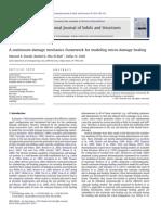 A Continuum Damage Mechanics Framework for Modeling Micro-damage Healing