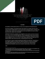 ANONYMOUS Political Party - Platform