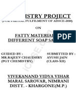 Fatty Material of Diff Soap Samples