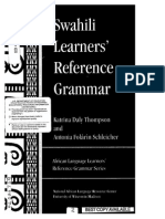 Swahili Learners' Reference Grammar
