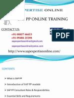 Sap Pp Online Training Classes