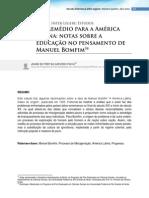 Um Remedio Para America Latina