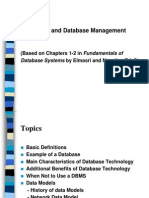 Database Management Systems Introduction