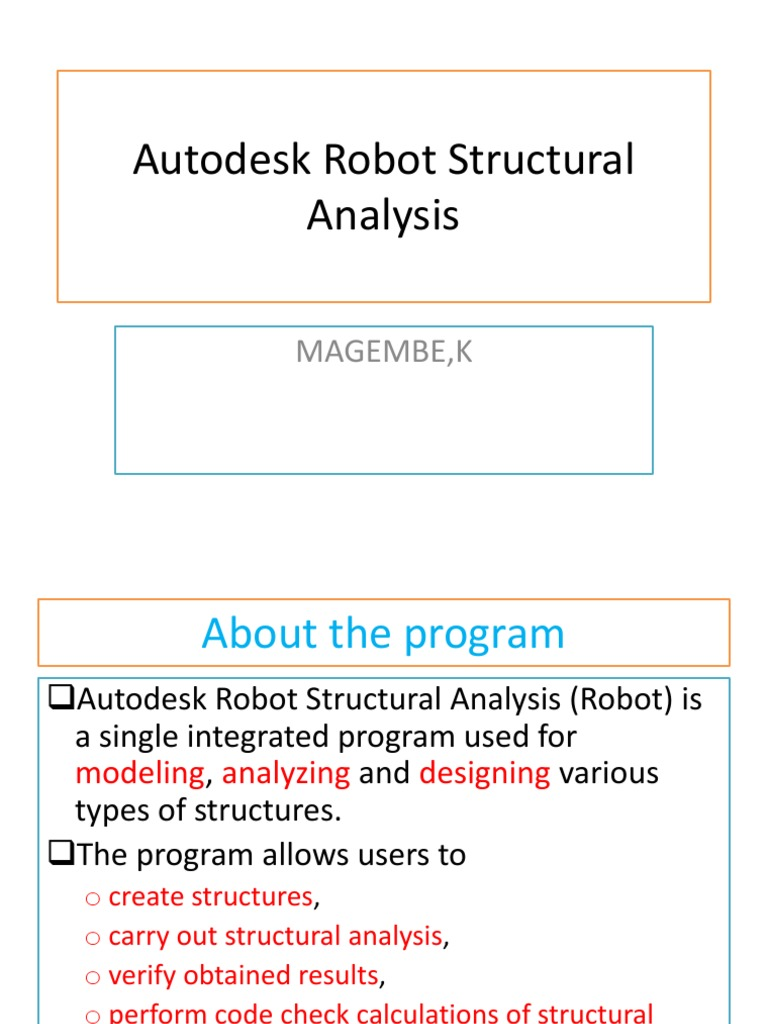 Autodesk Robot Structural Analysis Professional_Training | Structural  Analysis | Graphical User Interfaces