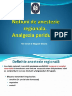 Anestezie, Analgezie Peridurala Curs Asistente