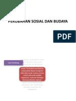Perubahan Sosial Dan Budaya