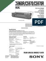 Sony MDX-C5970 Service Manual