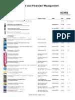 Boekenlijst ACVR2 2014-2015