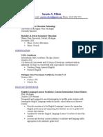 suzette elliotts teaching resume